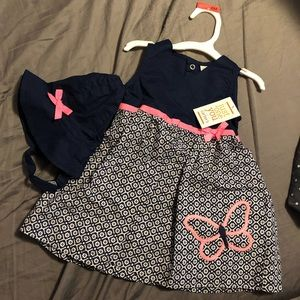 Carters 6 month dress with hat infant girl NWT